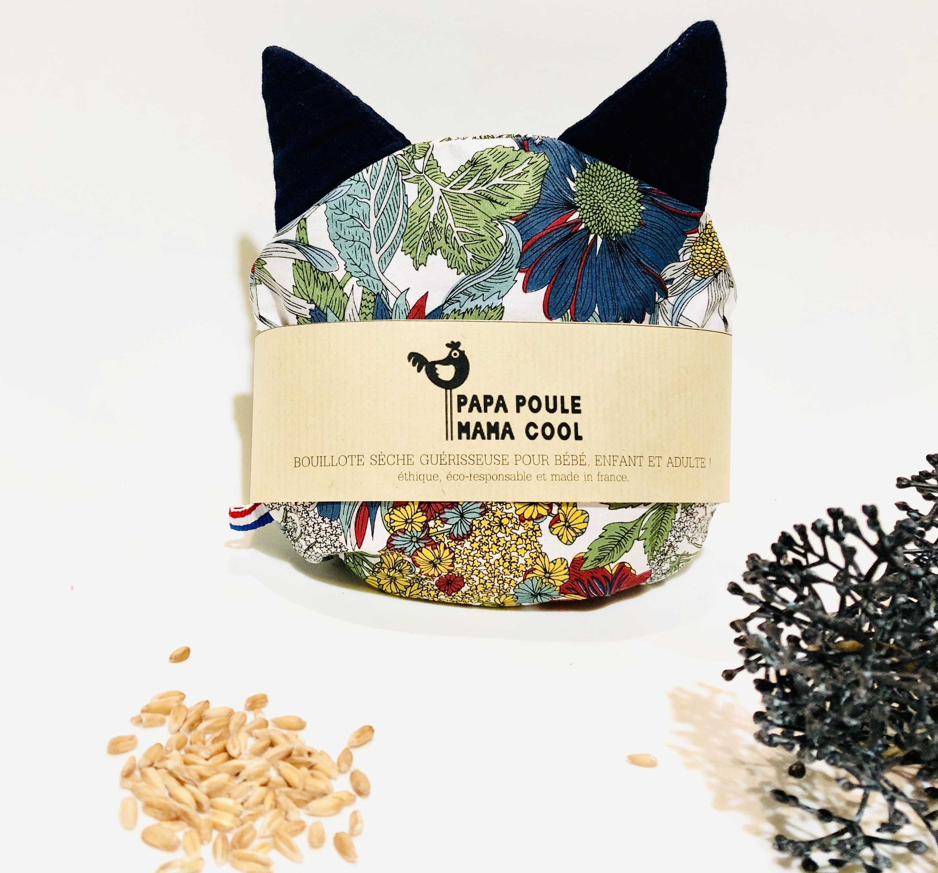 Bouillotte sèche aux graines d'épeautre bio Française et motif millepertuis